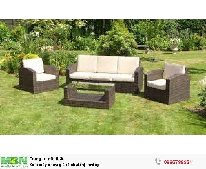 Sofa mây nhựa giá rẻ nhất thị trường2