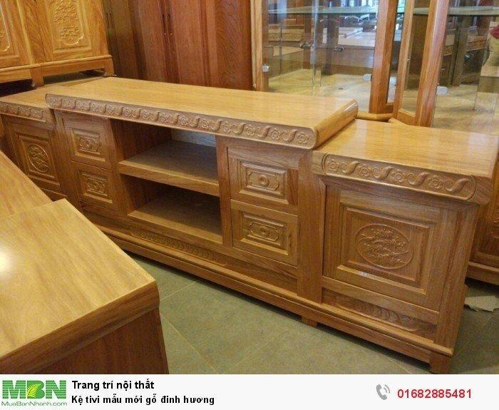 Kệ tivi mẫu mới gỗ đinh hương2