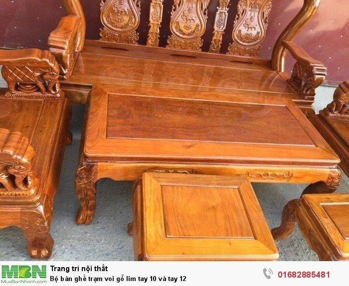 Bộ bàn ghế phòng khách trạm voi gỗ lim0