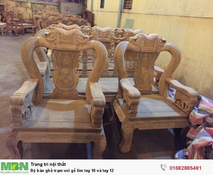 Bộ bàn ghế phòng khách trạm voi gỗ lim9