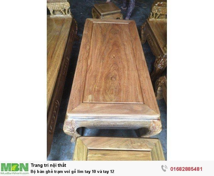 Bộ bàn ghế phòng khách trạm voi gỗ lim12