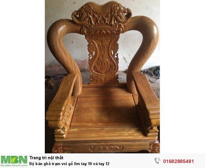Bộ bàn ghế phòng khách trạm voi gỗ lim13