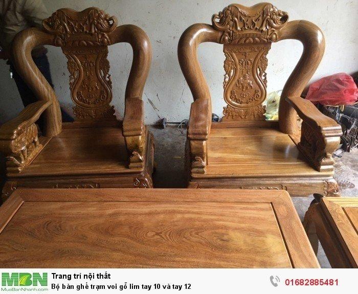 Bộ bàn ghế phòng khách trạm voi gỗ lim14