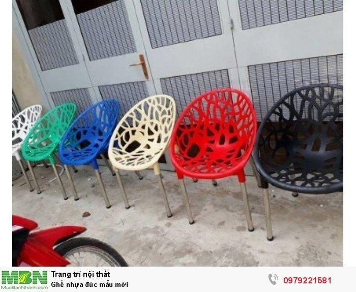 Ghế nhựa đúc mẫu mới