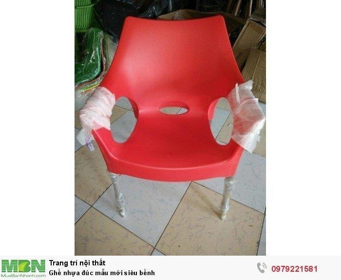 Ghế nhựa đúc mẫu mới siêu bềnh