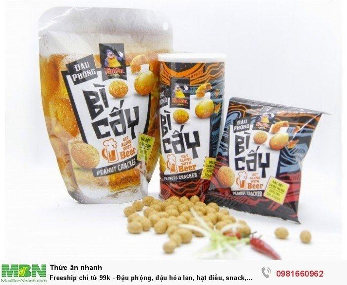 Đậu phộng, đậu hòa lan, hạt điều, snack, đậu thập cẩm Tân Tân