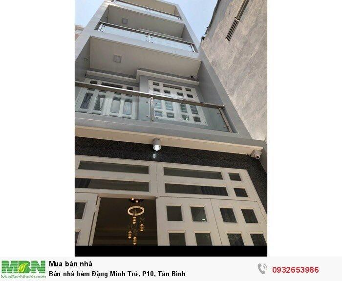 Bán nhà hẻm Đặng Minh Trứ, P10, Tân Bình