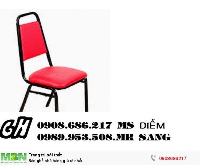 Bàn ghế nhà hàng giá rẻ nhất4