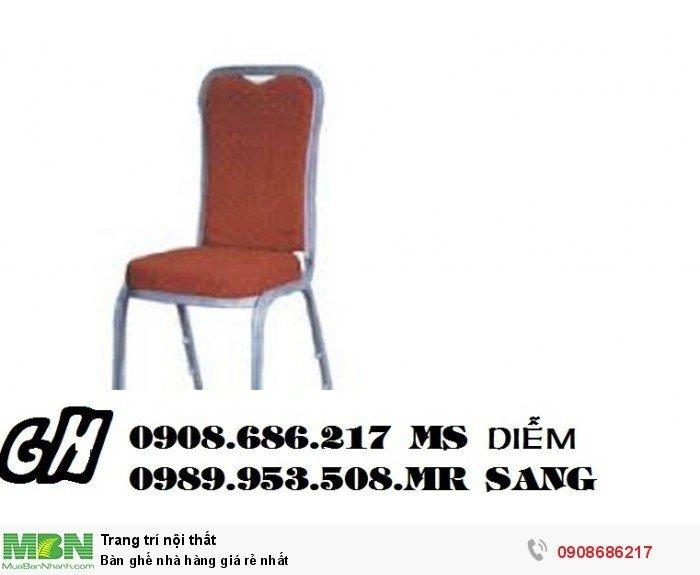 Bàn ghế nhà hàng giá rẻ nhất5