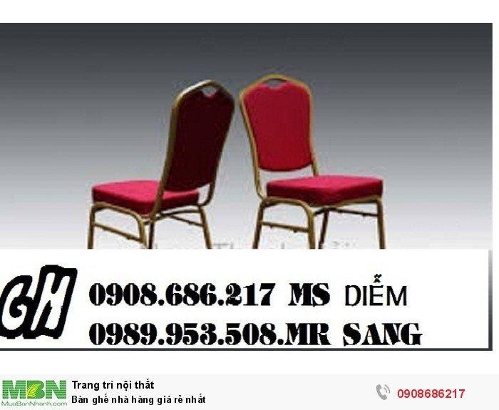 Bàn ghế nhà hàng giá rẻ nhất6