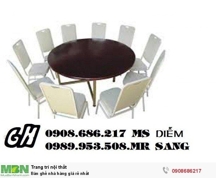 Bàn ghế nhà hàng giá rẻ nhất7