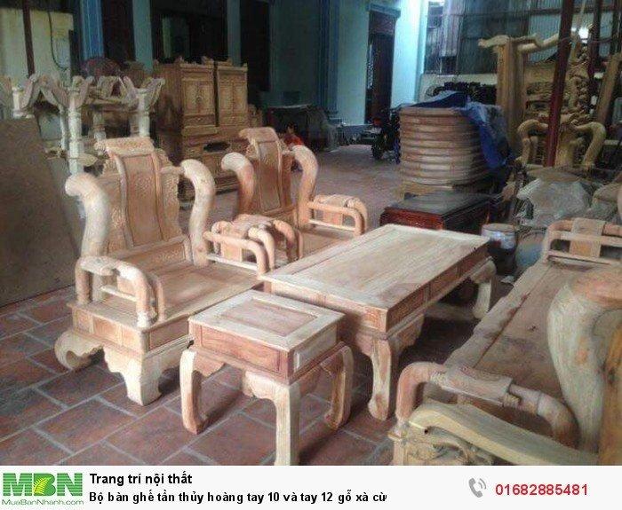 Bộ bàn ghế tần thủy hoàng gỗ xà cừ1
