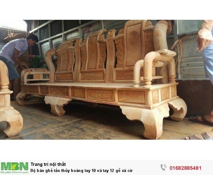 Bộ bàn ghế tần thủy hoàng gỗ xà cừ3