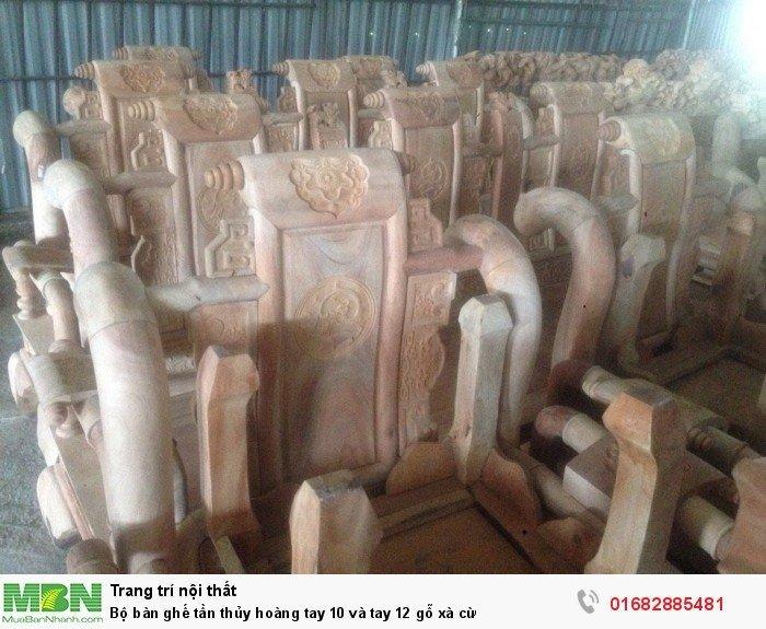 Bộ bàn ghế tần thủy hoàng gỗ xà cừ6
