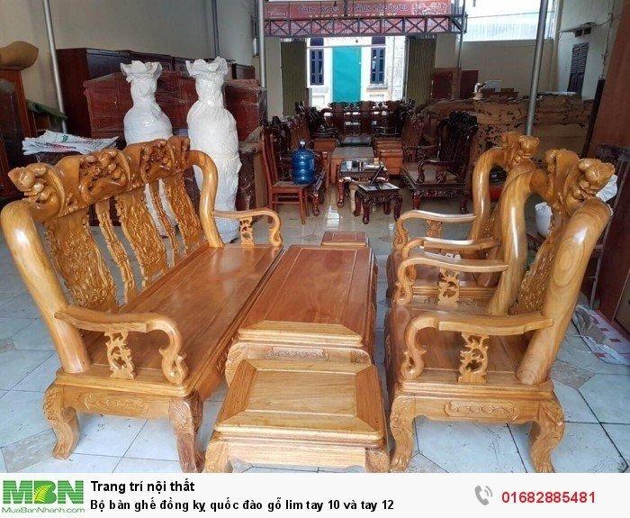 Bộ bàn ghế trạm đào gỗ lim0