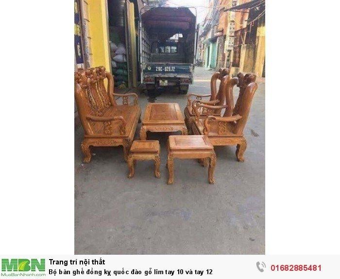 Bộ bàn ghế trạm đào gỗ lim1