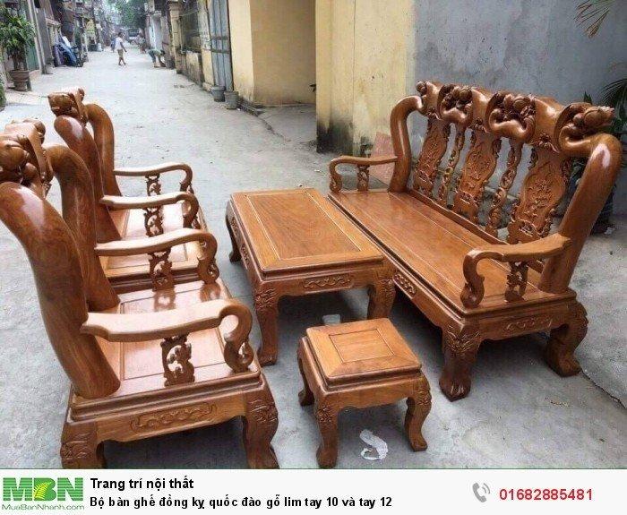Bộ bàn ghế trạm đào gỗ lim2