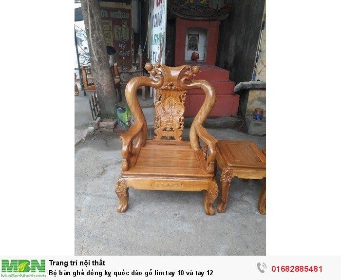Bộ bàn ghế trạm đào gỗ lim4