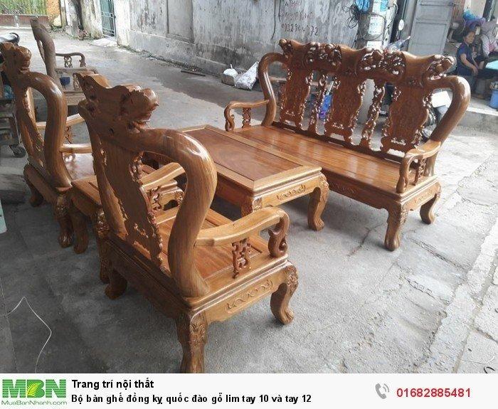 Bộ bàn ghế trạm đào gỗ lim3