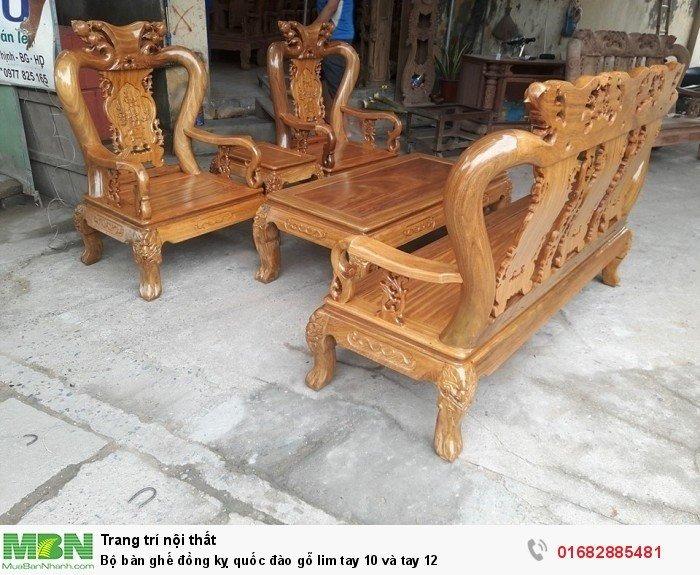 Bộ bàn ghế trạm đào gỗ lim5