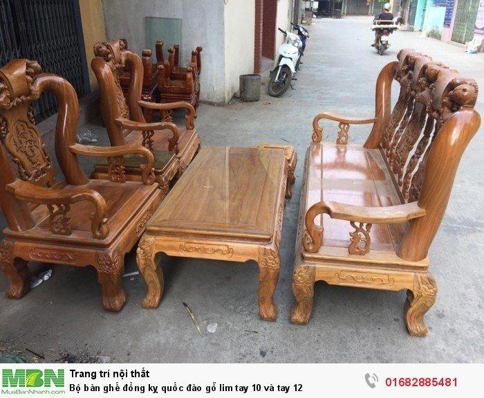 Bộ bàn ghế trạm đào gỗ lim6