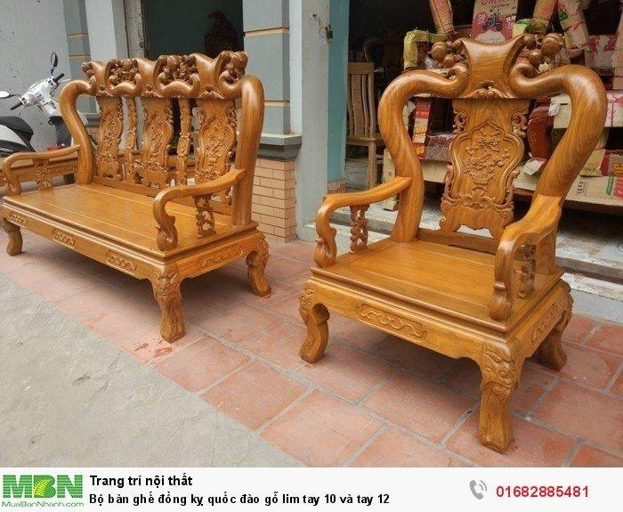 Bộ bàn ghế trạm đào gỗ lim7