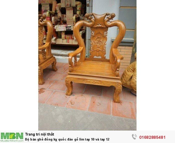 Bộ bàn ghế trạm đào gỗ lim9