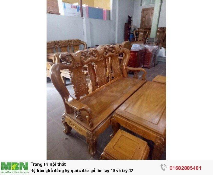 Bộ bàn ghế trạm đào gỗ lim10