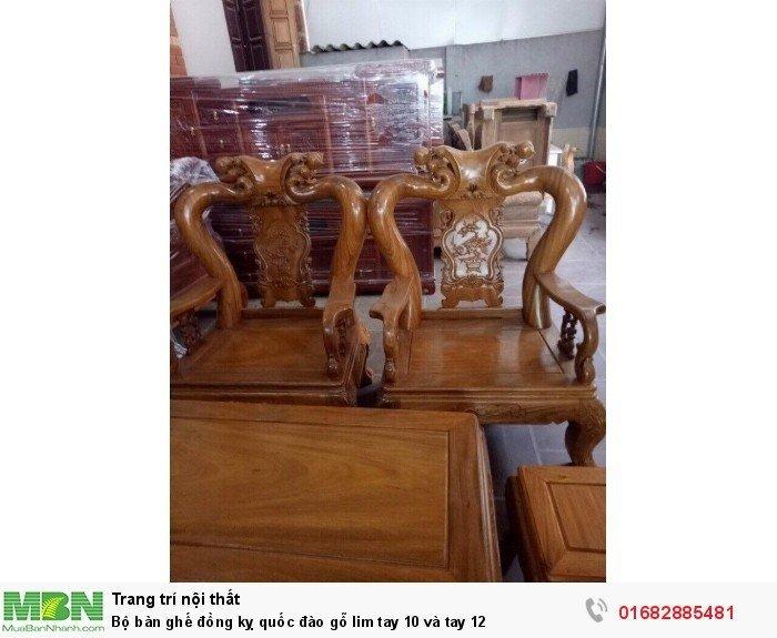 Bộ bàn ghế trạm đào gỗ lim12