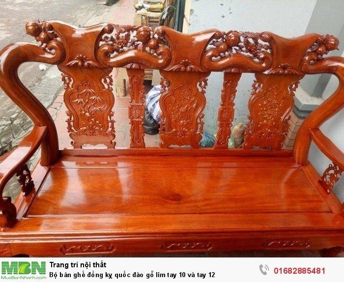 Bộ bàn ghế trạm đào gỗ lim11