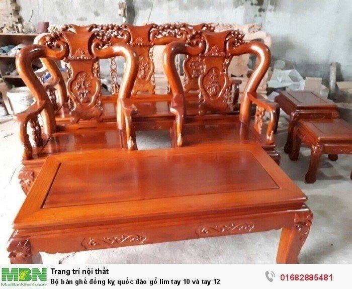 Bộ bàn ghế trạm đào gỗ lim13