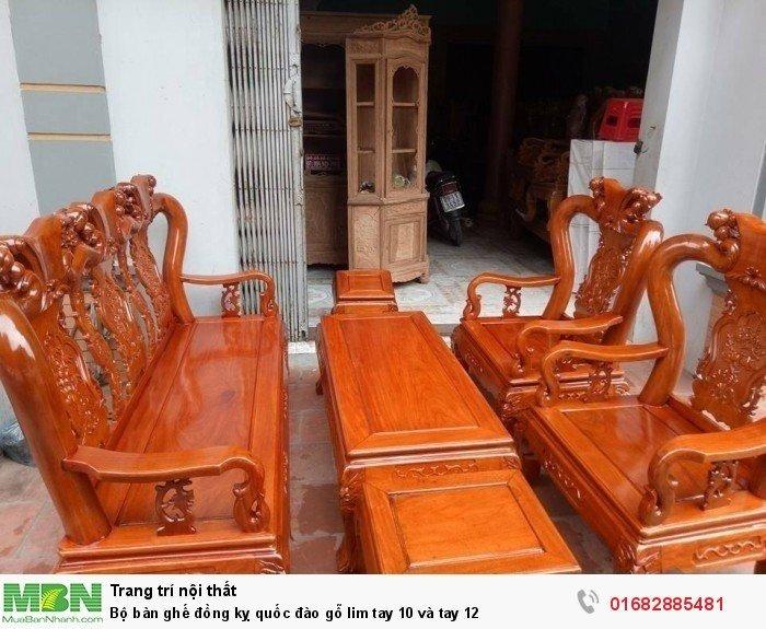 Bộ bàn ghế trạm đào gỗ lim14