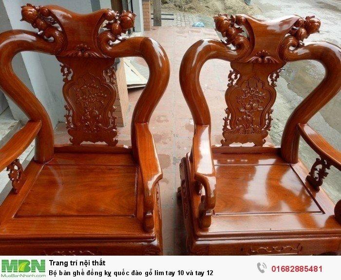 Bộ bàn ghế trạm đào gỗ lim16