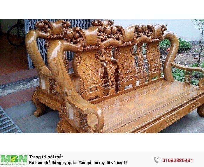 Bộ bàn ghế trạm đào gỗ lim15