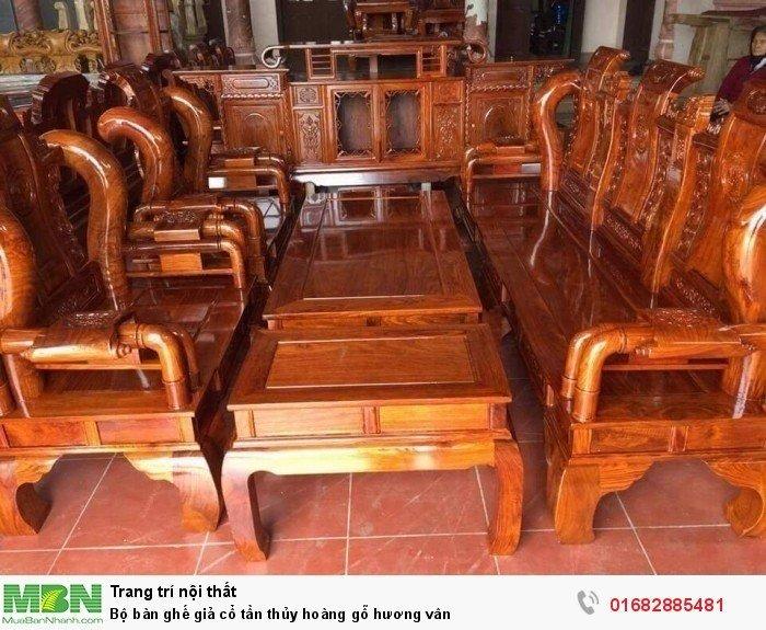 Bộ bàn ghế giả cổ tần thủy hoàng gỗ hương vân2