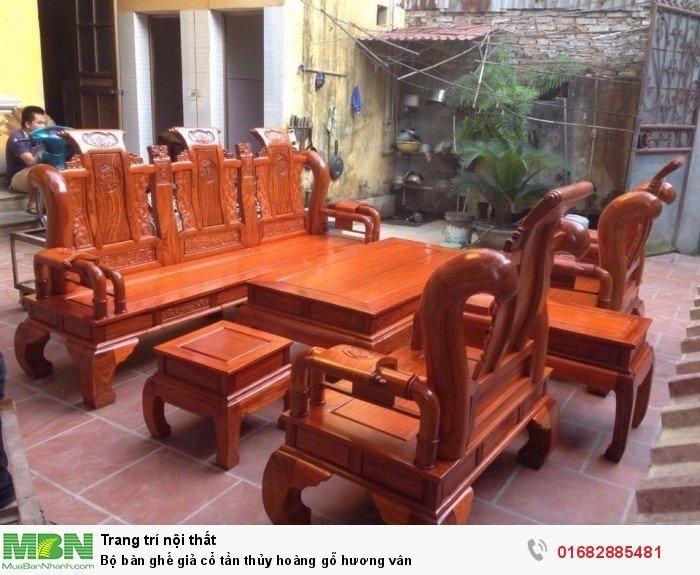 Bộ bàn ghế giả cổ tần thủy hoàng gỗ hương vân3