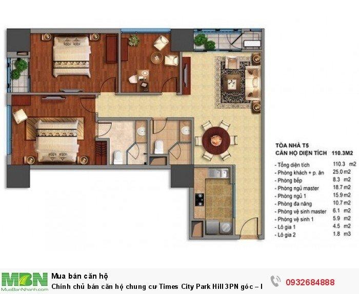 Chính chủ bán căn hộ chung cư Times City Park Hill 3PN góc – Rẻ nhất thị trường