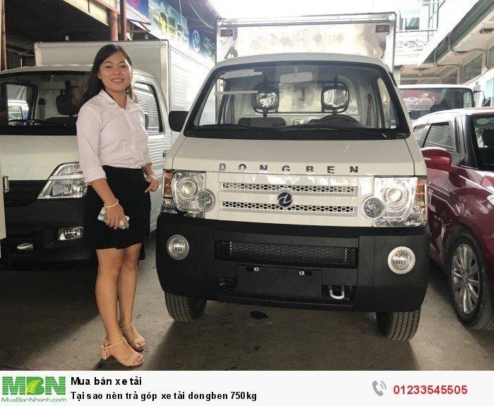Tại sao nên trả góp xe tải dongben 750kg