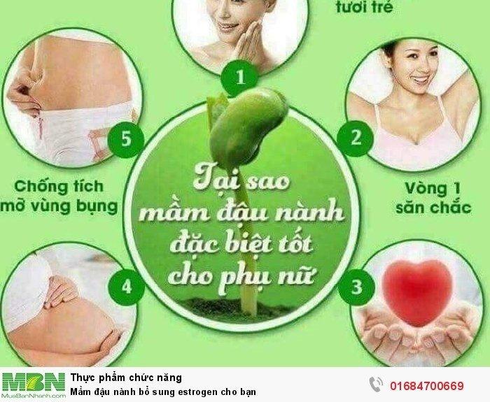 Mầm đậu nành bổ sung estrogen cho bạn3