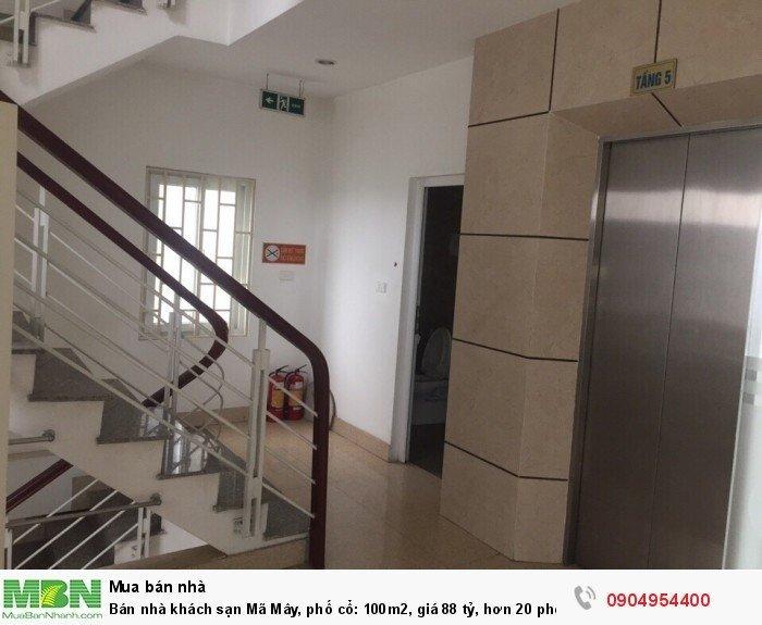 Bán nhà khách sạn Mã Mây, phố cổ: 100m2,  giá 88 tỷ, hơn 20 phòng doanh thu tốt.