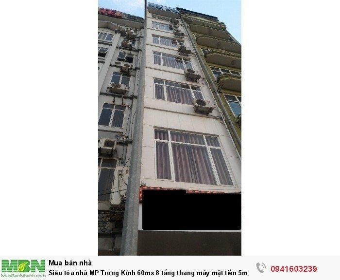 Siêu tòa nhà MP Trung Kính 60mx 8 tầng thang máy mặt tiền 5m nhỉnh 18 tỷ