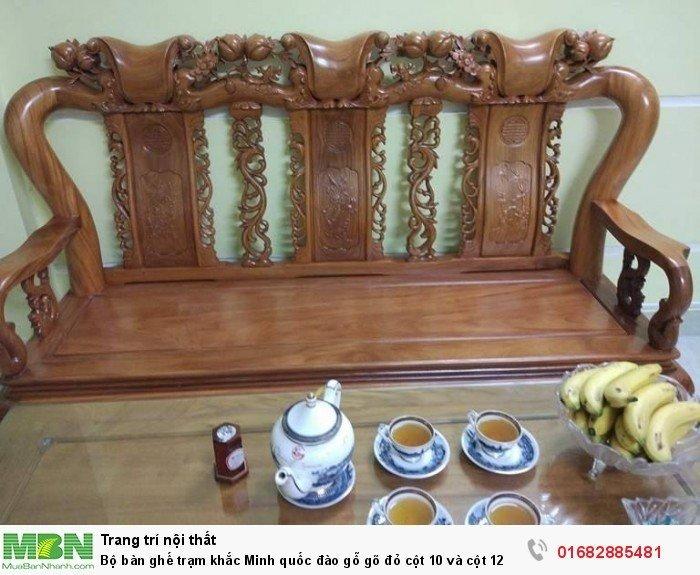 Bộ bàn ghế giả cổ trạm quốc đào gỗ gõ đỏ7