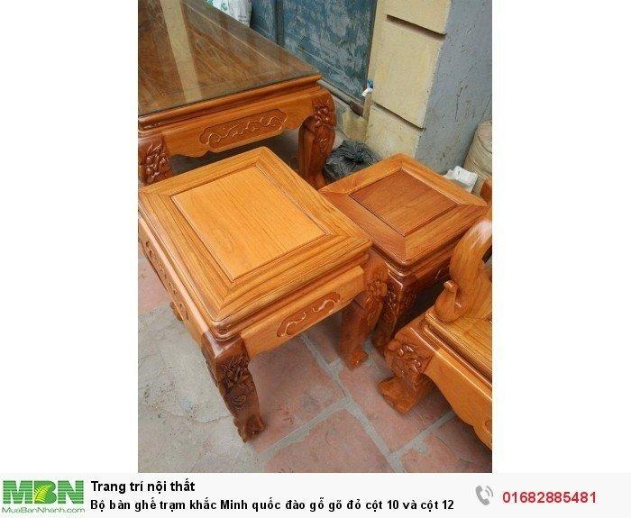 Bộ bàn ghế giả cổ trạm quốc đào gỗ gõ đỏ9