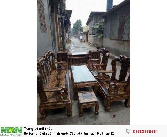 Bộ Bàn Ghế Gỗ Tràm Phun Pu Giả Mun9