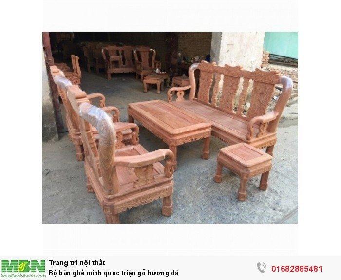 Bộ Bàn Ghế Minh Quốc Triện gỗ hương đá1