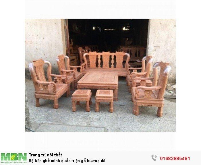 Bộ Bàn Ghế Minh Quốc Triện gỗ hương đá2
