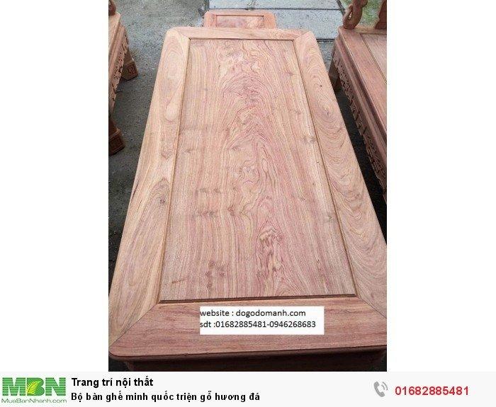 Bộ Bàn Ghế Minh Quốc Triện gỗ hương đá3
