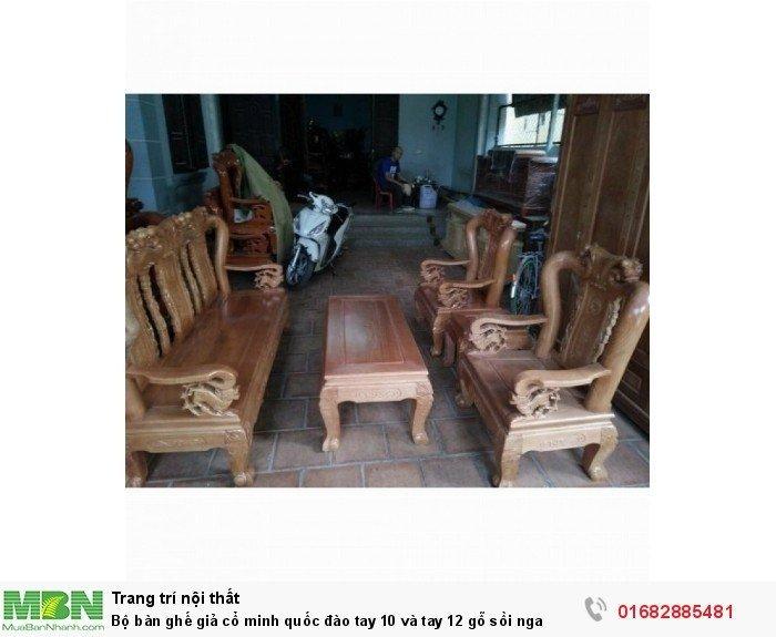 Bộ bàn ghế giả cổ trạm đào gỗ sồi nga3