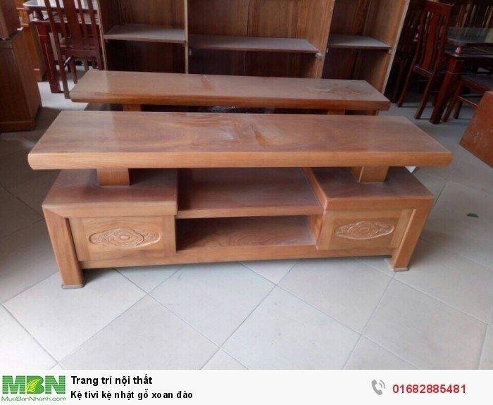 Kệ tivi kệ nhật gỗ xoan đào4
