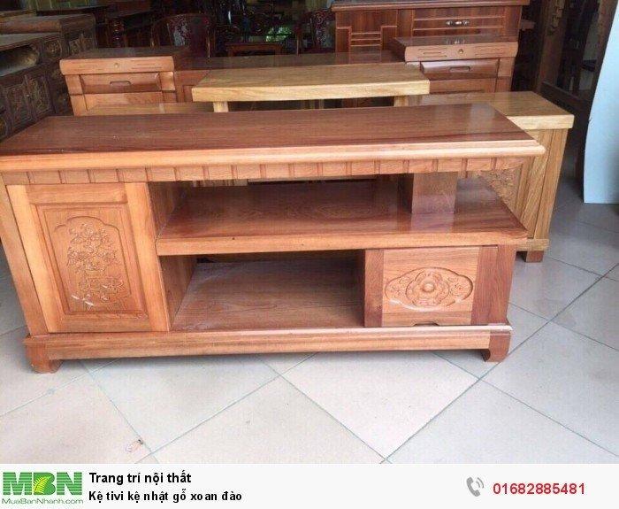 Kệ tivi kệ nhật gỗ xoan đào5